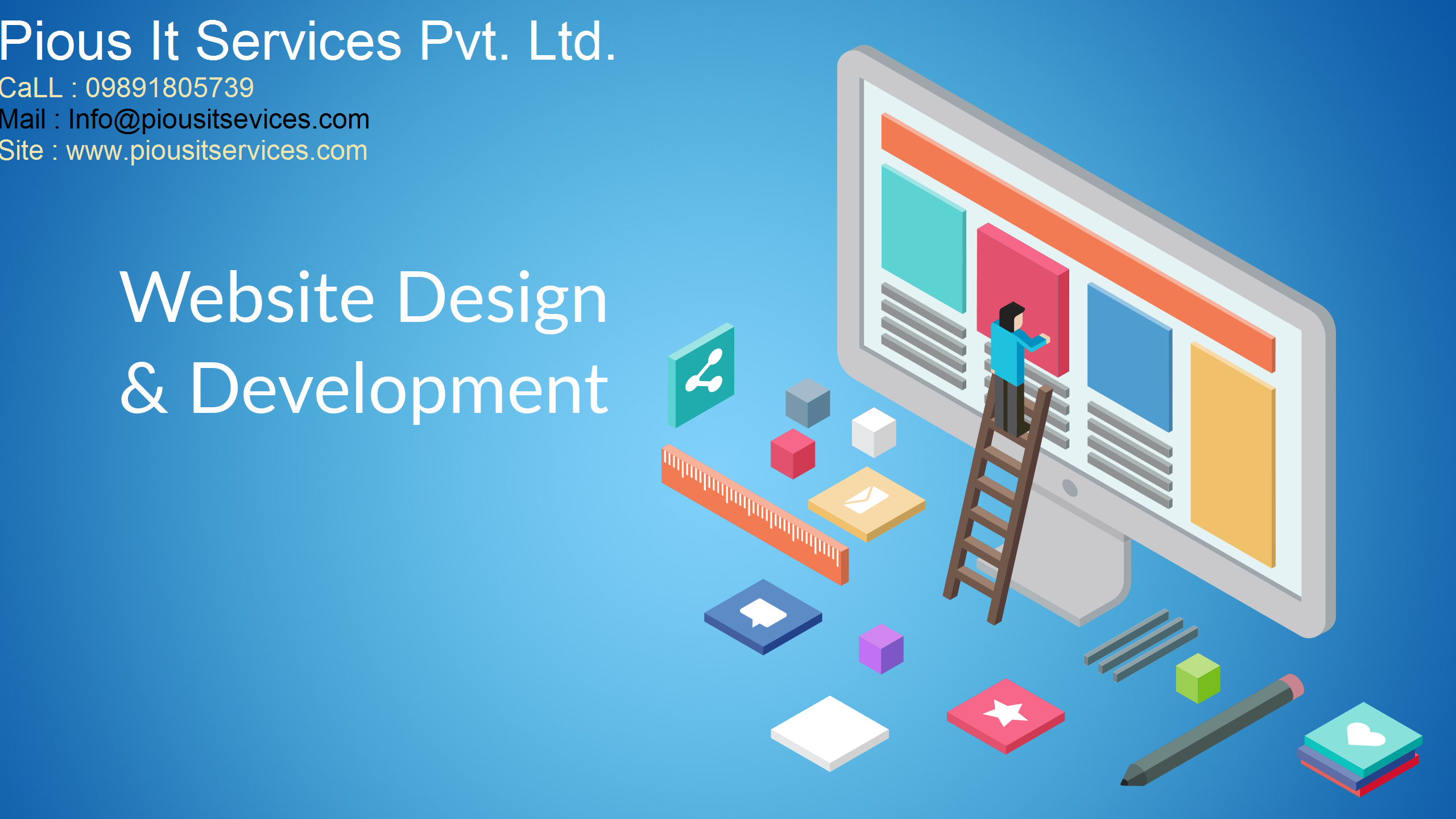 Website Design Company In Noida Sector 62 63 Pious It Services En 2020 The Globe