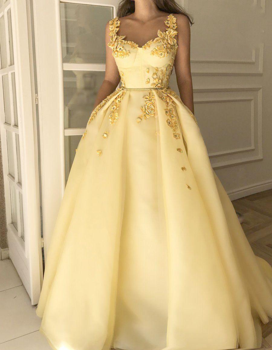 Babyonlinedress Women 60s Sleeveless Mermaid Evening Prom Dresses Yellow Princess Prom Dresses Yellow Wedding Dress