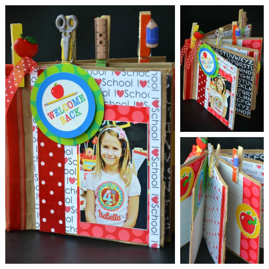 How to make scrapbook for school project - Cris M Supply Paper Bag Make A Mini Scrapbook Using Brown Paper Bags To