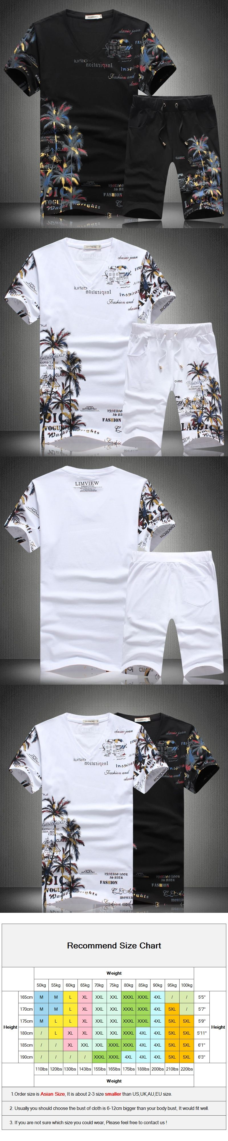 a184a17c94b 2017 Summer Short Sets Men Casual Coconut Island Printing Pattern Men  Chinese Style Sporting Suit Sets