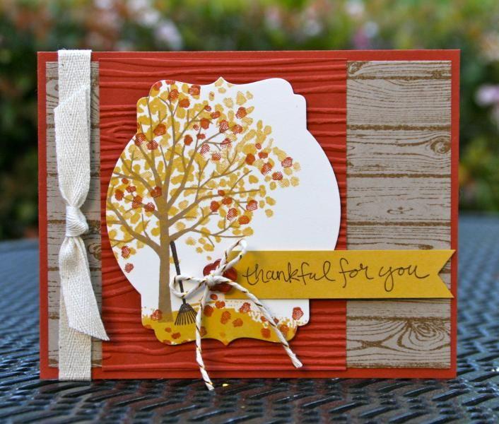 Открытка из бумаги осень