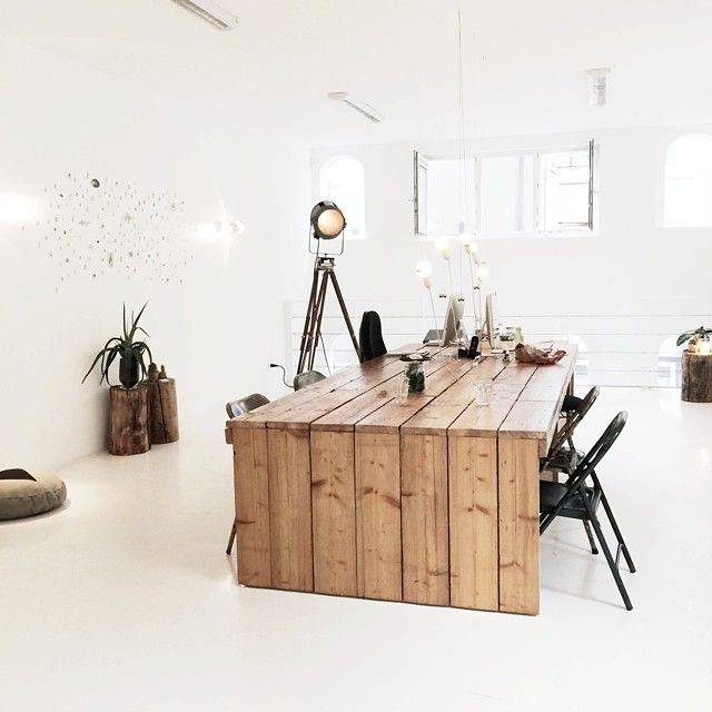 Pin By Amanda Rigole On Workspace Pinterest Room Interiors And - Large office work table