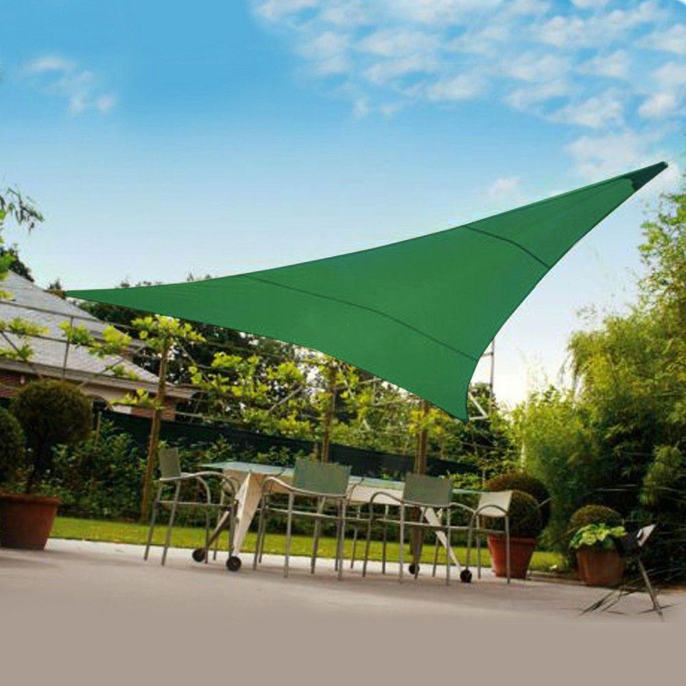 Vela Triangolare Ombreggiante 3 6x3 6mt Verde Terrazza Con