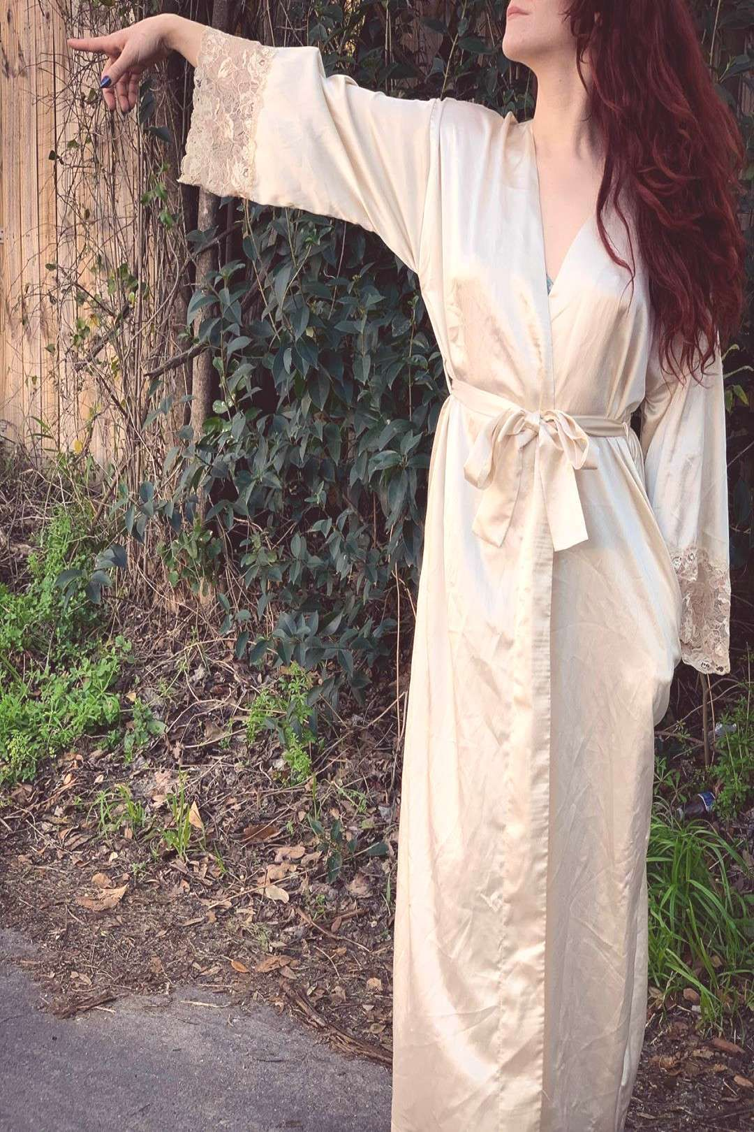 #peoplepeople #everything #valentino #standing #outdoor #creme #more #most #this #size #robe #fits #one #and #or This creme Valentino robe is EVERYTHING!!! . One size fits most .You can find Vintag...