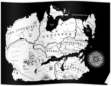 Thedas Map Poster By Noelle304 Map Art Map Poster
