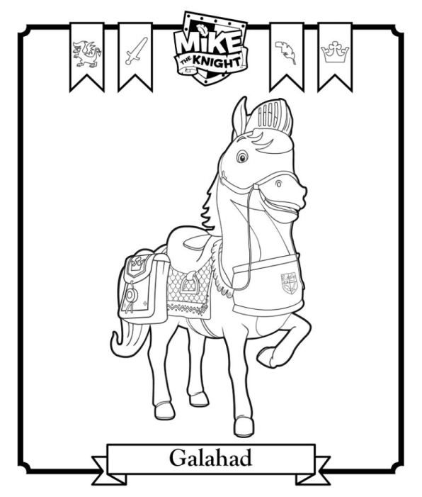 coloring page Mike the Knight - Galahad | Mike the Knight ...