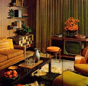 1970 S Living Room With Tv