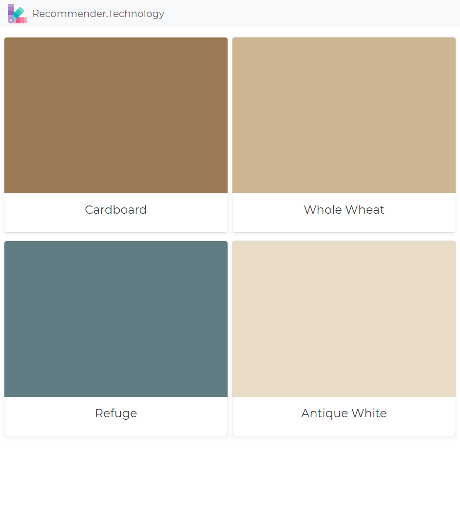 Bedroom Wall Color Simulator: Cardboard, Whole Wheat, Refuge, Antique White