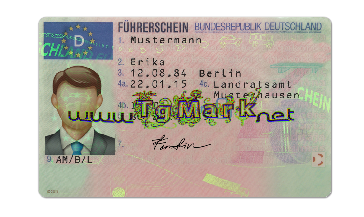 Germany Driver License Psd Template Psd Adobe Photoshop Full Version Mac Win No Date And No Number Limit I Drivers License Id Card Template Templates