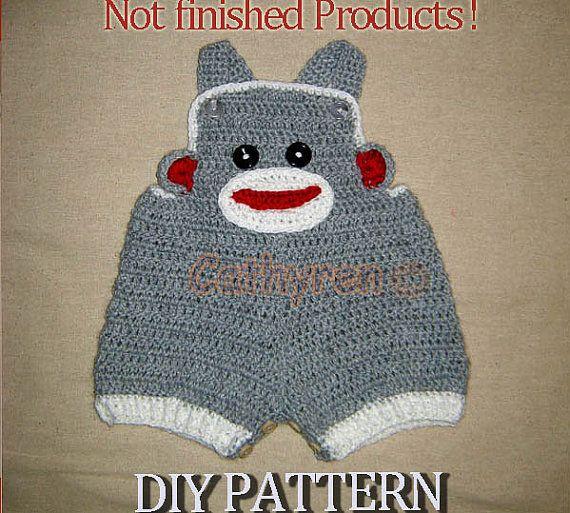 Instant Download Crochet Pattern Baby Sock Monkey by Cathyren, $4.95 ...