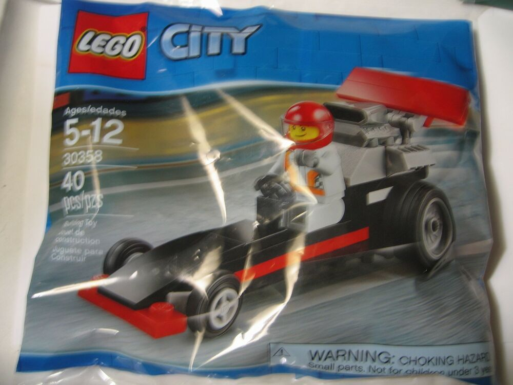 new and sealed #30358 LEGO City Dragster polybag Building Toys