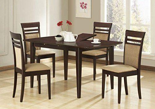 Monarch Specialties 5Piece Marble Veneer Dining Set Dark Cherry Amusing Dark Cherry Dining Room Set Inspiration