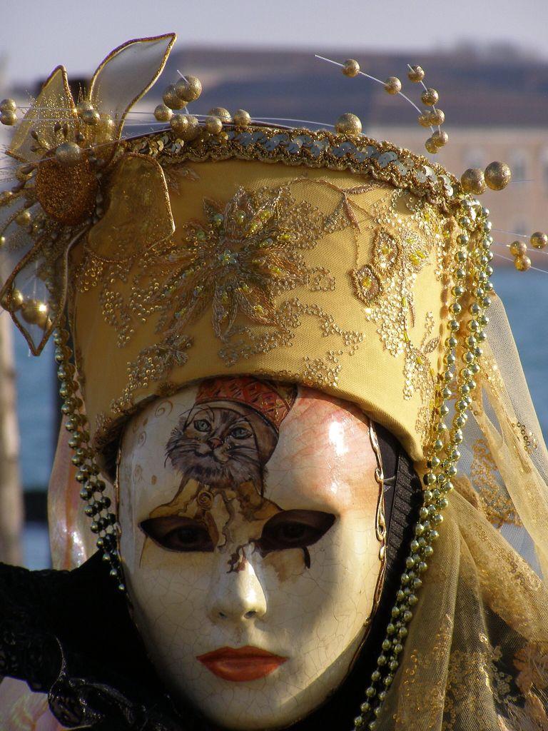 Cat Mask, Venice Carnival 2015 by Lesley McGibbon