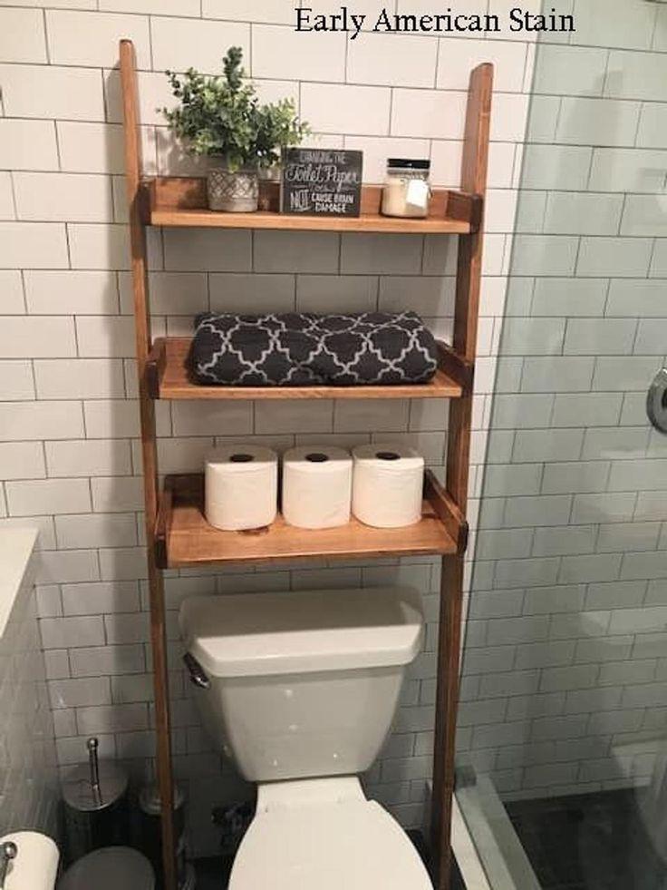 Photo of Über die Toilette gelehntes Leiterregal zum Dekor bestellen | Etsy – #on #Best …