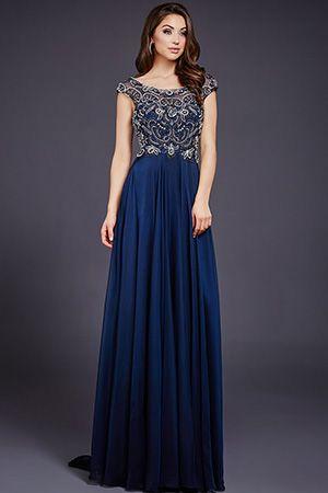 Navy Embellished Top Empire Waist Dress 29344 Gowns Pinterest