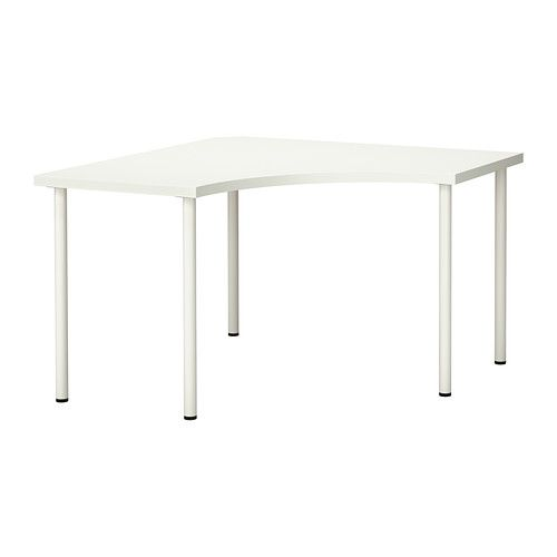 LINNMON/ADILS Corner Table IKEA Pre Drilled Holes For Five Legs For Easy  Assembly
