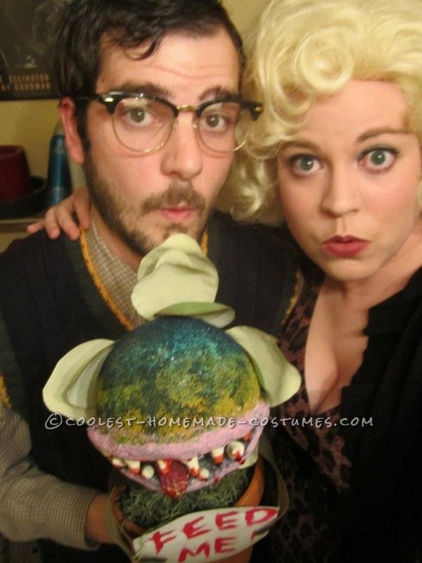 Epic Little Shop of Horrors Costume Complete with Audrey II - halloween costumes with beards ideas