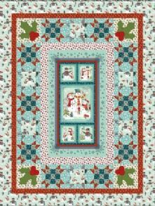 "1 /""Stonehenge Holiday/"" Christmas Crafting Quilting//Wallhanging Fabric Panel"