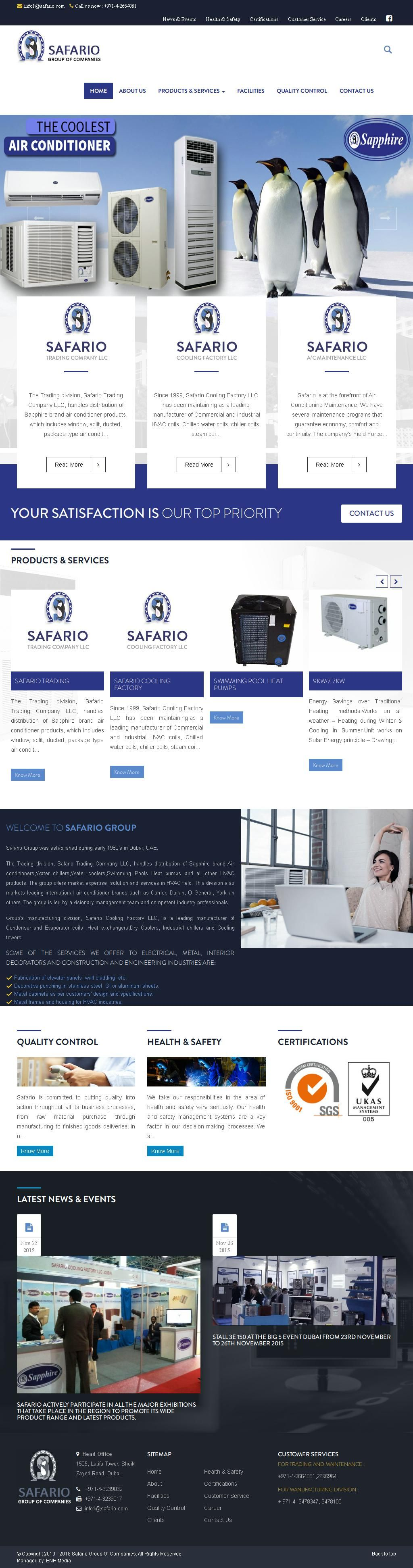 Safario Airconditioning Air Conditioning Equipment
