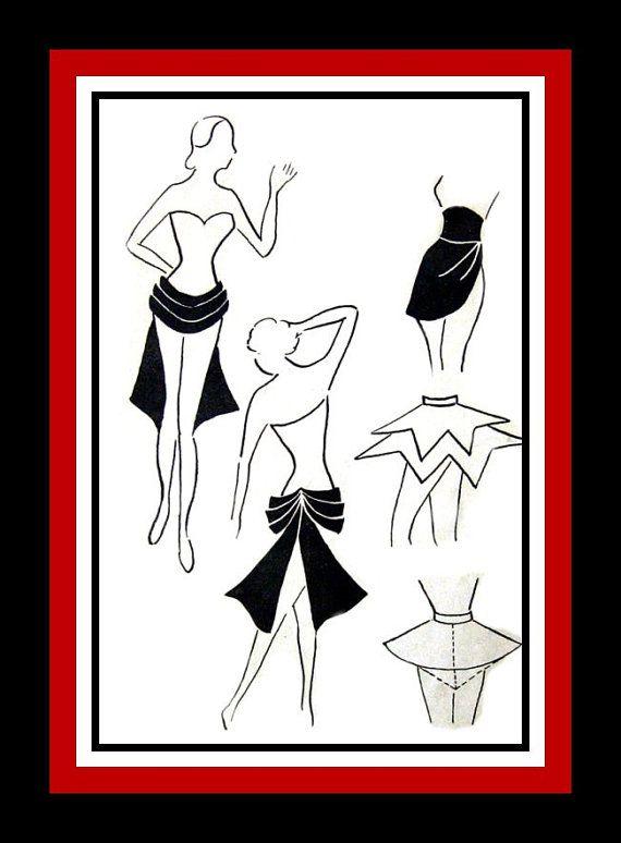 Vintage 1950s Dance Skirt  Costume Sewing by FarfallaDesignStudio