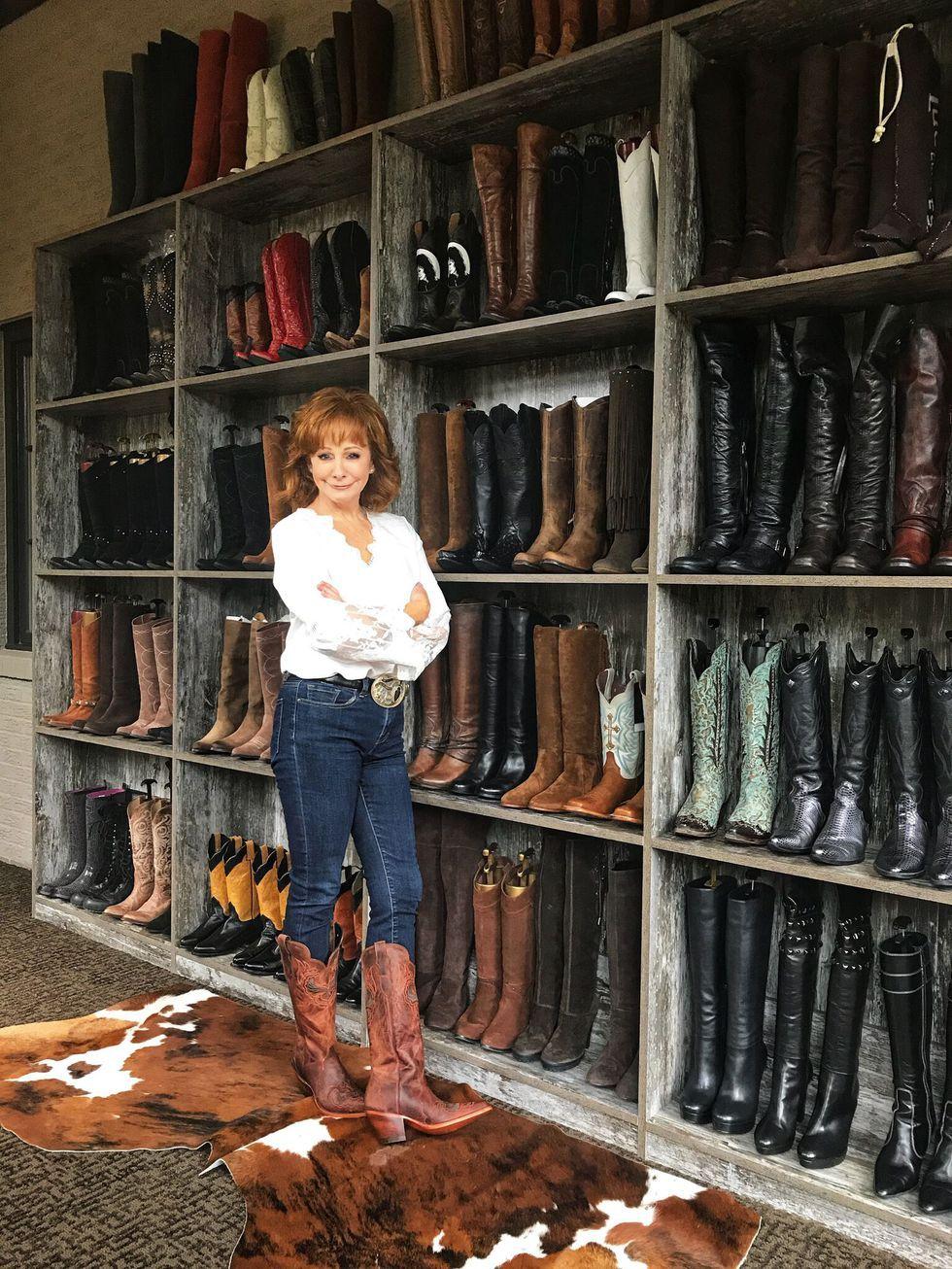 Reba McEntire's Fancy CustomBuilt Boot Closet Is Every
