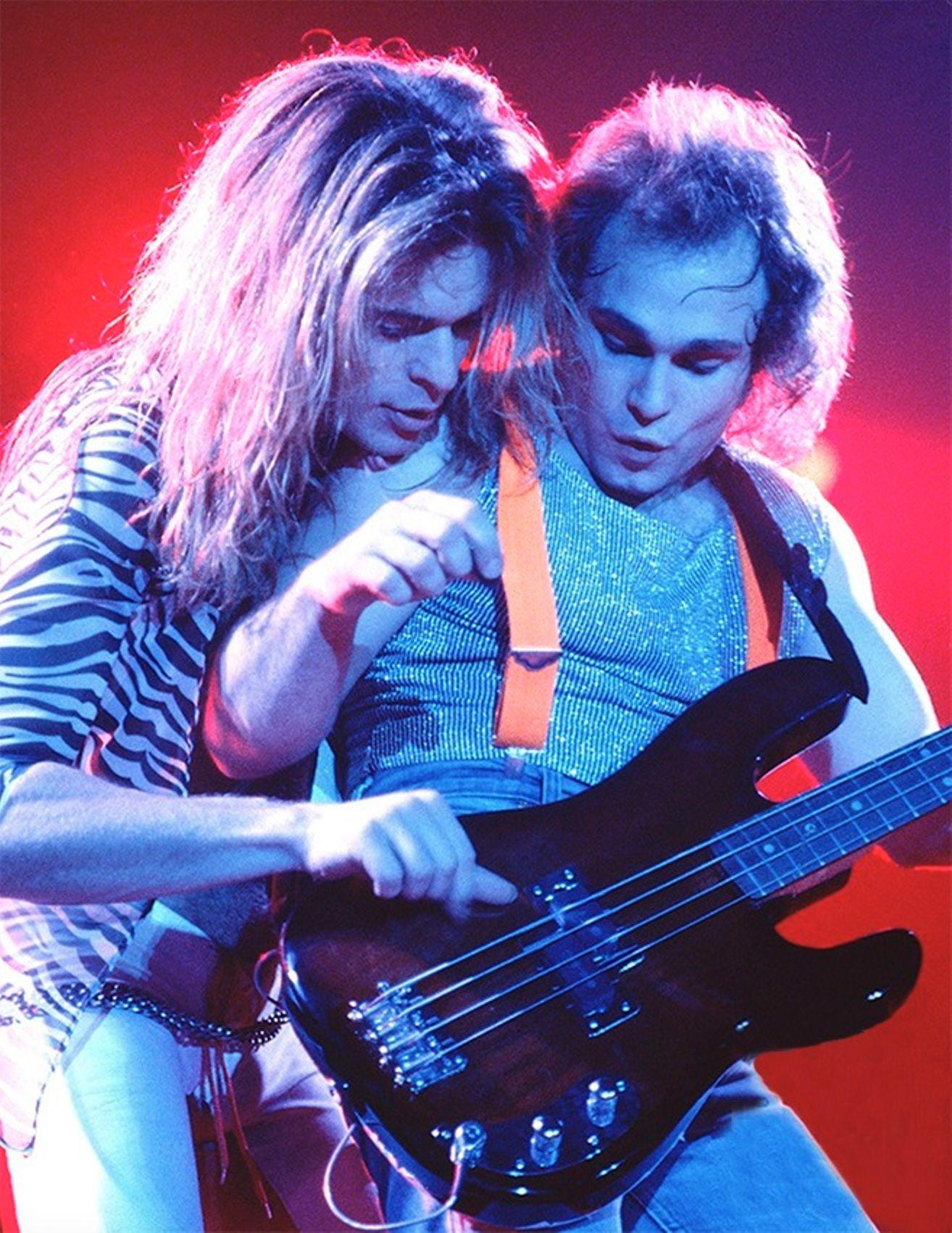 David Lee Roth And Michael Anthony 1979 Van Halen Eddie Van Halen Rock And Roll