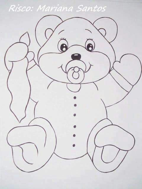Oso con chupete   EMBROIDERY HAND PATTERNS   Tole painting patterns ...