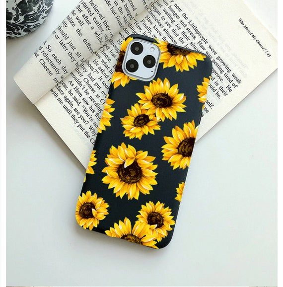 BLACK Sunflower iPhone Case.iPhone 11 case.iPhone 11 Pro Max | Etsy