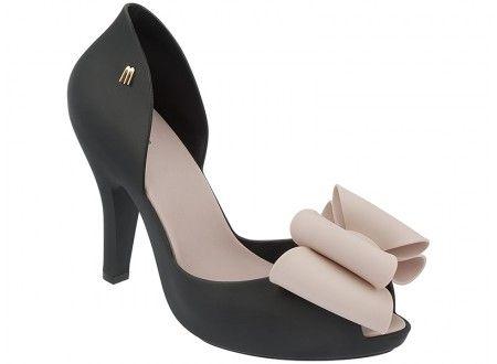 bcce3e95e Melissa Magnolia (Preta/Rosa) | Sapatos | Sapatos fashion, Sapatos ...