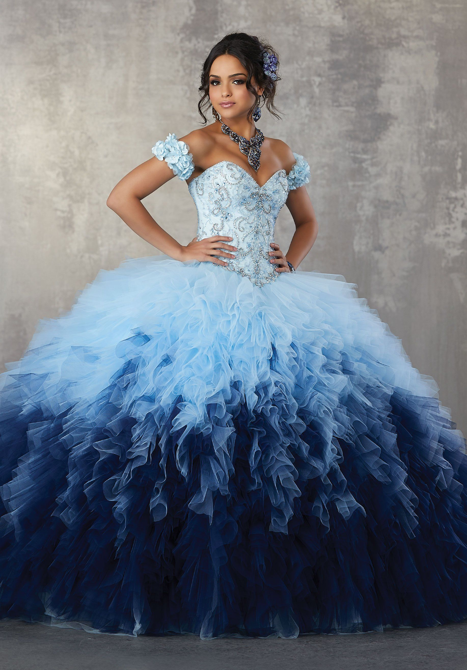 1291f6b0200 Strapless Ombre Quinceanera Dress by Mori Lee Vizcaya 89161 ...