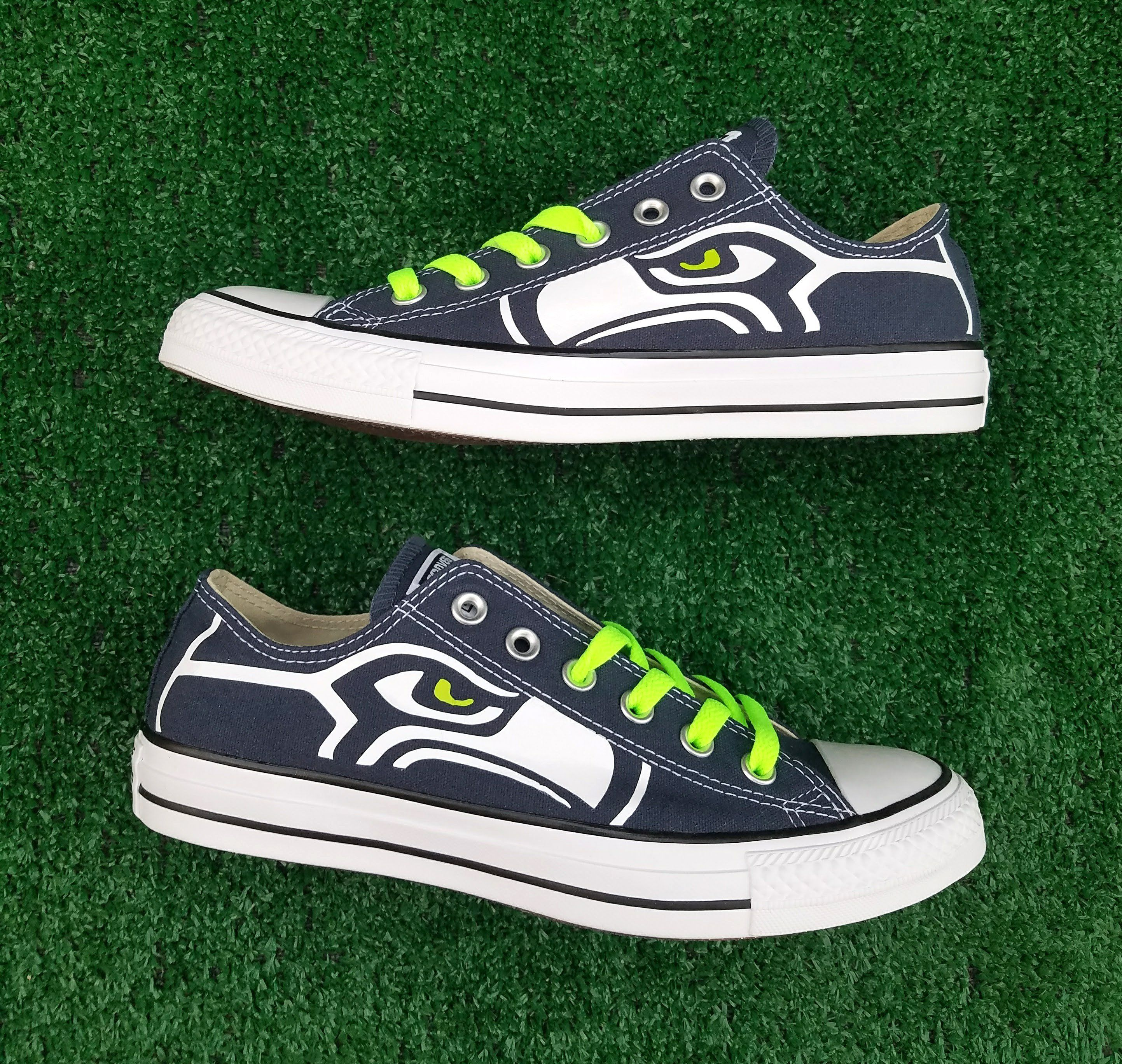 917846d6cdedf8 Customized Seattle Seahawks Converse Sneakers