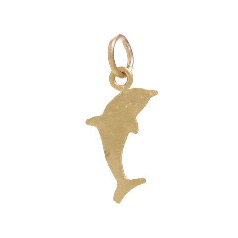 Dolphin Charm – Mini Collection by Page Sargisson – Available in 10KT gold with or without three diamonds, or sterling silver – Can be worn with other necklaces or on its own! Chain sold separately – Fine Jewelry, Hand Carved in Brooklyn by Page Sargisson