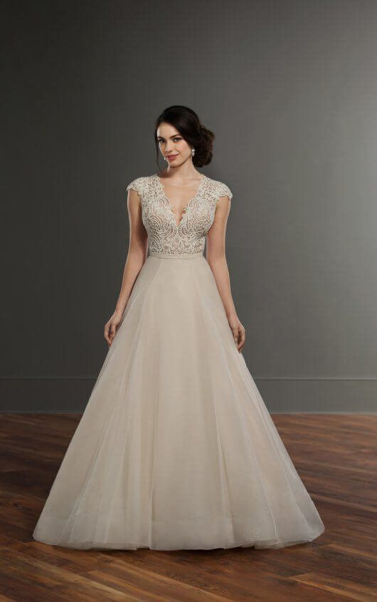 Bayley + Selby Ball Gown Wedding Separates with Keyhole Back by ...