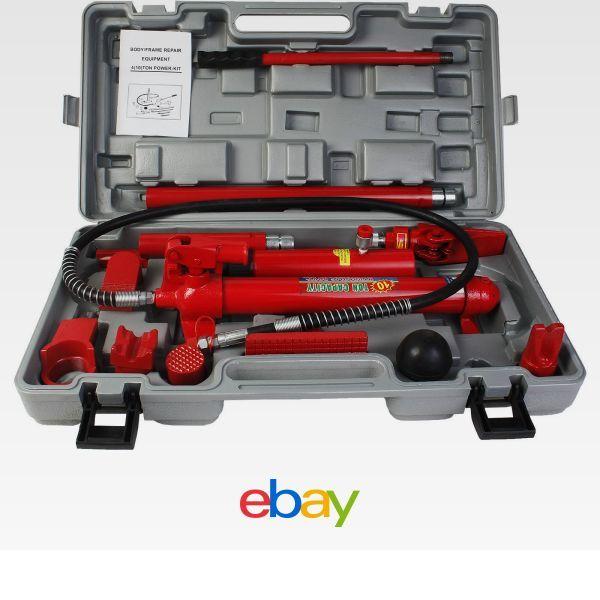 10 Ton Porta Power Hydraulic Jack Body Frame Repair Kit Auto Shop ...