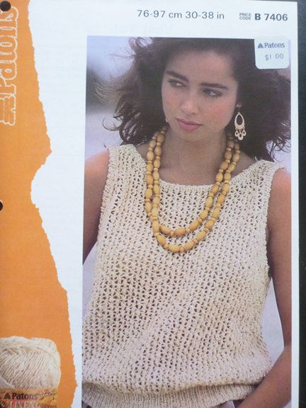 d42e4670f2d1d9 Cotton top knitting pattern by Patons - No 7406 - 1138 | Knitting ...