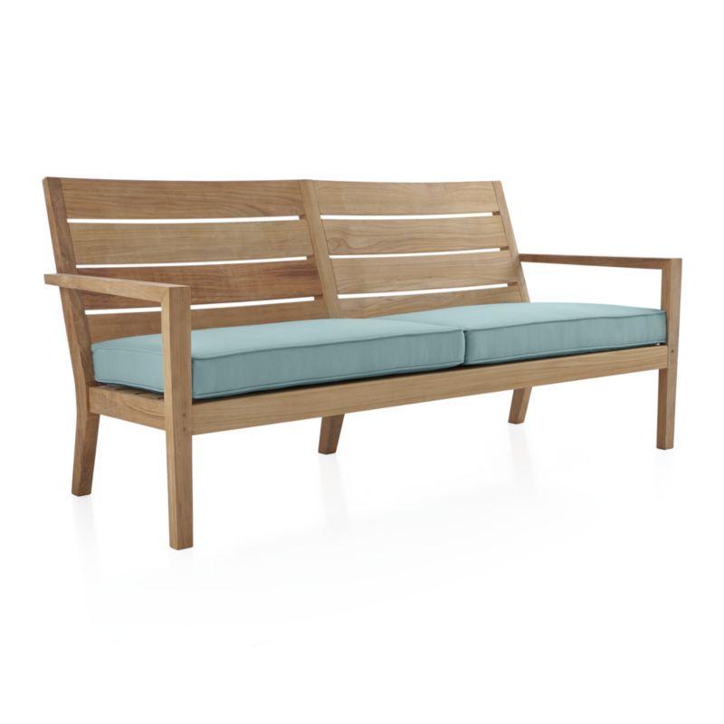Regatta Natural Sofa With Soft Mineral Sunbrella ® Cushion