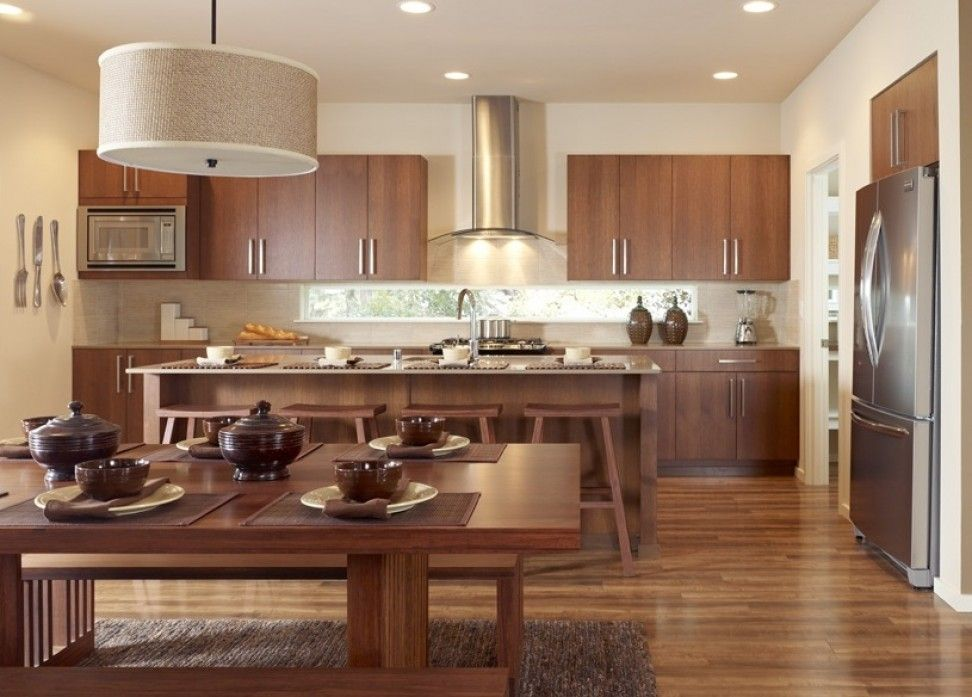 Paris Rift White Oak Bourbon   1600 Series Kitchens   Bellmont Cabinet Co.