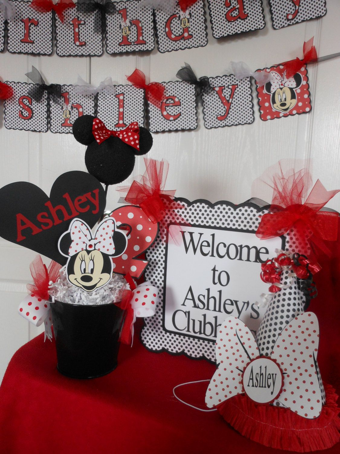 Save 15minnie mouse red polka dot ultimate by for 1st birthday decoration packages