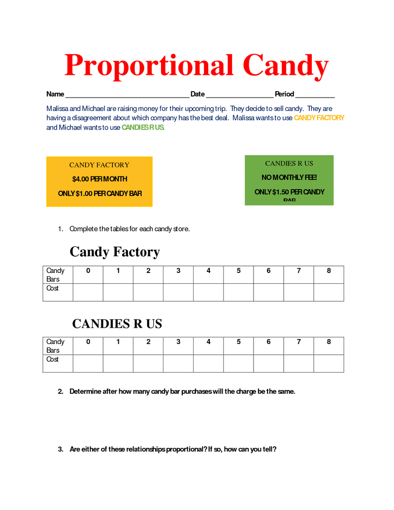 hight resolution of Proportional Candy goes with recognizing proportional relationships  lesson.docx   Proportional relationships