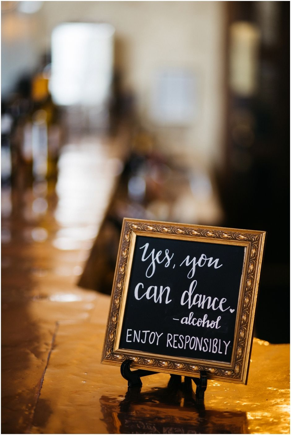 Yes You Can Dance Alcohol Wedding Sign Wedding Reception Decor