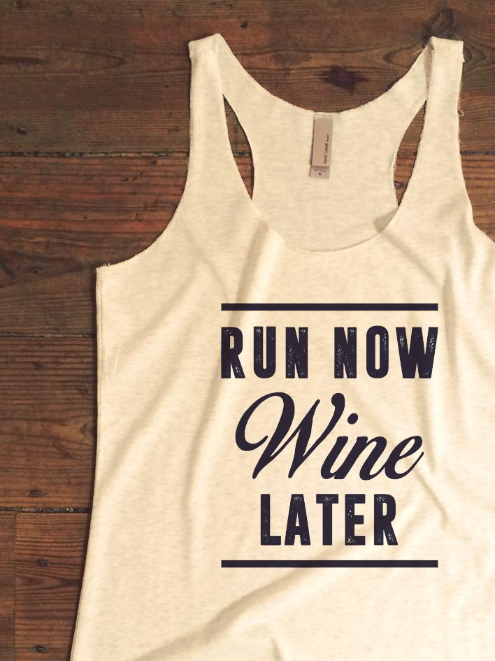 5f9c5c8f0806 Run Now Wine Later Womens Tank Top - funny wine top