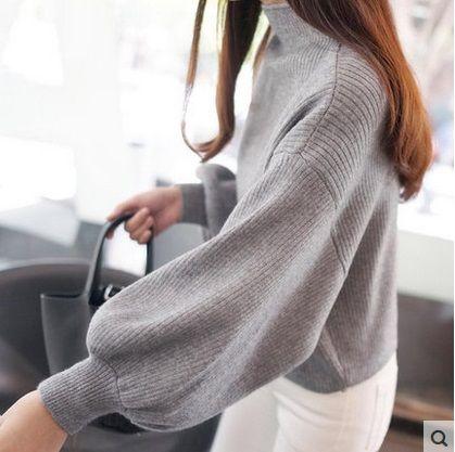 Hot Winter Women Oversized Cashmere Sweater Pull Femme Turtleneck ...