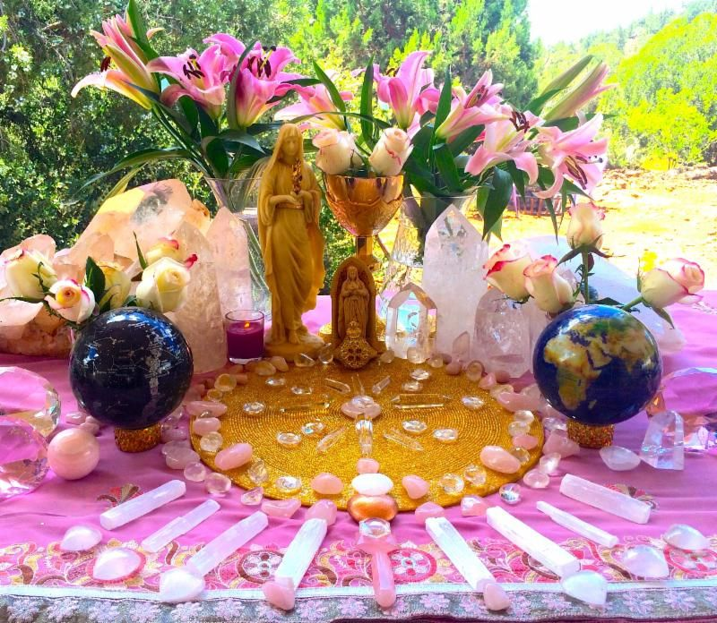 A Photo Of Our Magdalene Grail Altar: Final Reminder Ceremony & Activation Tomorrow....