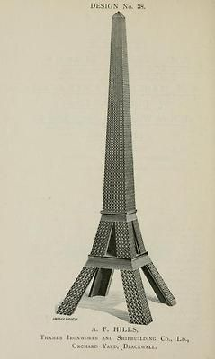 One of the entries for the 1890 London Competition for a 300 m high tower (only a few years after the Eiffel Tower became a big succes).