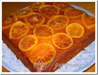 Апельсиновый сочный пирог