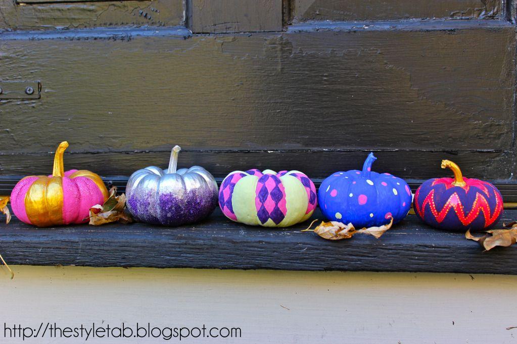 Mini Painted Pumpkins
