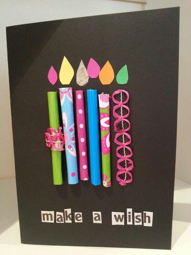 Geburtstagskarte Gemacht Aus Kartonpapier Geschenkpapier Zu