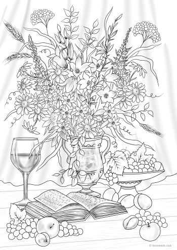 Time to Relax   Fall coloring pages, Coloring pages, Mom ...