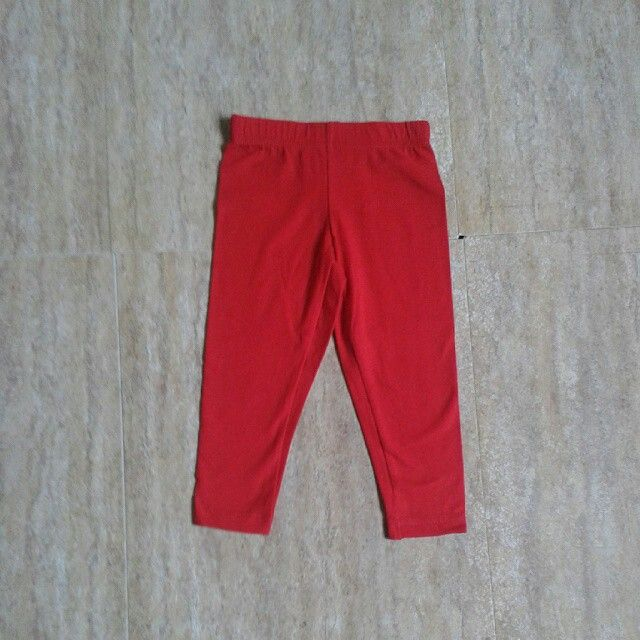 Carters red legging 9m , 12m (4pcs) ,2y 45rb