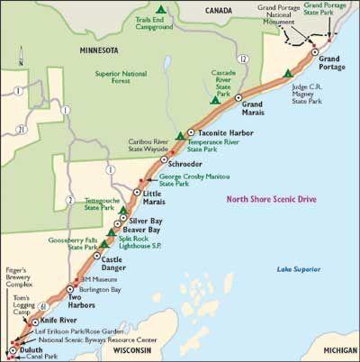Lake Superior Tourist Map Edi Maps Full HD Maps - Lake michigan circle tour map